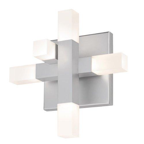 (Sonneman 2110-16 Five Light Sconce, Silver)