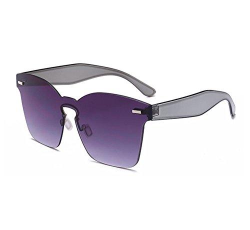 polarizadas de cuadradas sol UV400 moda clásica de Gafas Doble la no vidrios Gris integrados 6xIqn1X