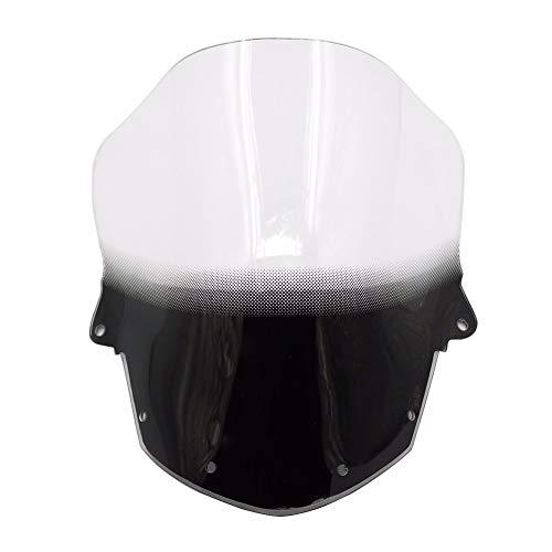 Jonathan-Shop - ZX6R 09-15 Clear Windscreen Windshield For Kawasaki Ninja ZX-6R ZX 6R 2009-2015 2010 11 12 13 14 Wind Deflector Double Bubble