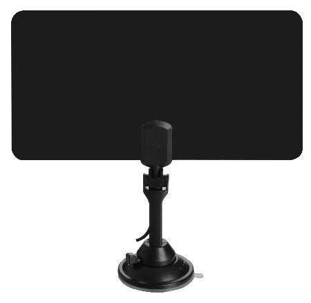 Flat Panel HDTV Antenna w/Amplifier - UHF/VHF/FM