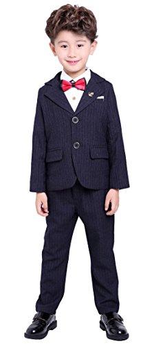 Big Boys Stripe Suit Set with Plaid Blazer Vest Pants for Class Play Wedding School Wear Formal Black Suit 12 - Seersucker Plaid Pant