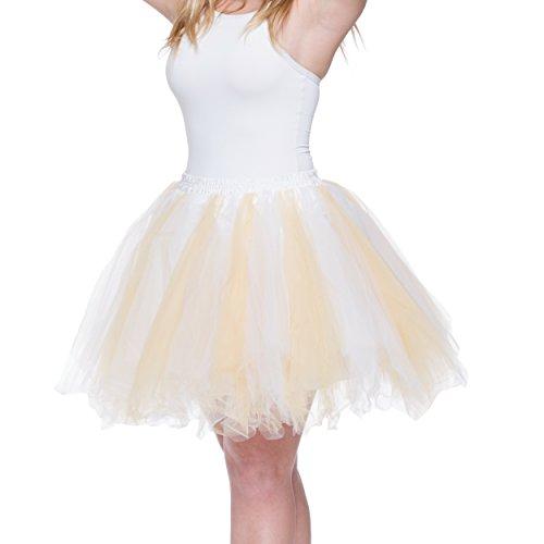 Taille Or Dancina Tutu Vintage Jupe Rtro Grande Femme et Unique Blanc Taille qvrzqnwOZx