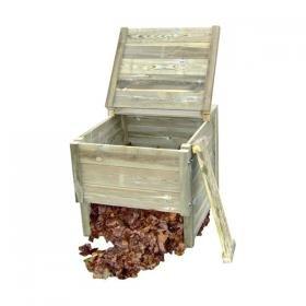 Compostador de madera maciza 1000L: Amazon.es: Jardín