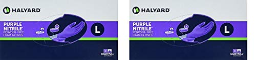 Haylard Health Purple Nitrile Exam Gloves, Large, 100 Count (2-(Pack)) by Halyard Health (Image #1)