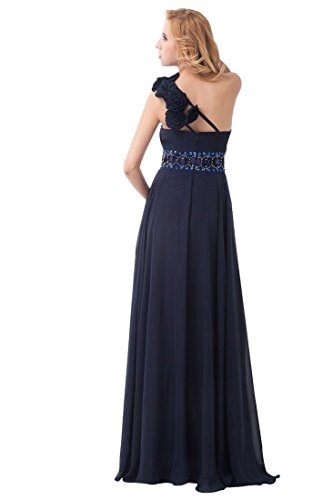 Handgemachte Rhinestone Shoulder Dunkelblau Kleider Emily Beauty Blumen One qHw61OIv5S