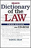 Oran's Dictionary of the Law, Oran, Daniel, 0766821145