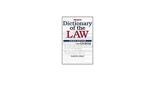 orans dictionary of the law