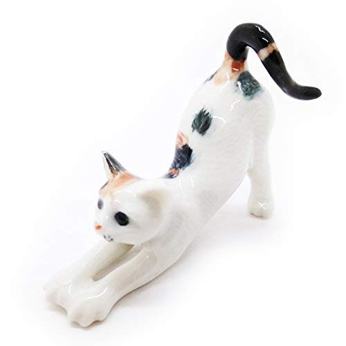 Miniature Cat Little Dot Cute Figurine Collectibles Ceramic Dolls Handmade Decor