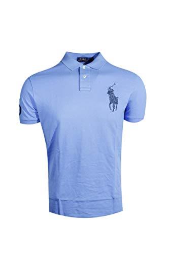 - Polo Ralph Lauren Mens Custom Fit Big Pony Logo Polo Shirt (XX-Large, Light Blue (Navy Pony))