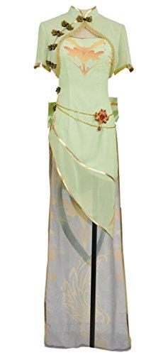 Vestido Corte En Para Cosplayfly Green A Trapecio O Gumi Mujer TdxItt6q