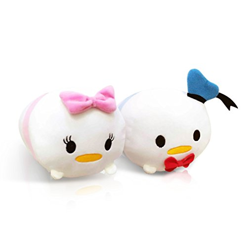 Finex - Set of 2 - Donald Duck and Daisy Duck Tsum Tsum Series Plush Pillow Stackable Long (Donald Duck Daisy Costumes)