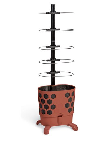 Gardener's Revolution Honeycomb Tomato Planter Red Clay