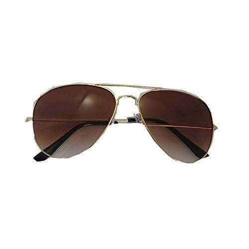 JJLIKER Classic Aviator Sunglasses Gradient Metal Frame Lightweight Goggles Men and Women Polarized Protection Eyewear