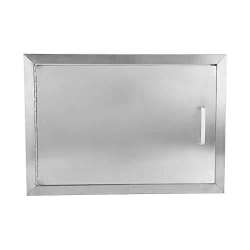 (Homgrace Double Walled Access Door Stainless Steel BBQ Island Door for BBQ Island, Outdoor Grilling Station, Outdoor Kitchen, Flush Mount (14H x 20W))