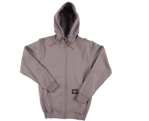 Hooded Mens Outerwear (Rasco Fire Retardant GRAY 100% Cotton Hooded Sweatshirt 11.50 oz)