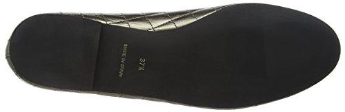 Femme Sole Patent Toe Gris Closed Henrietta French Flat Quilt Pewter Ballet 8qHp7xOn