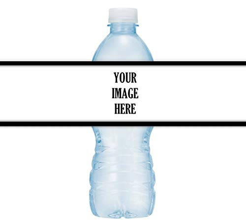 Custom Water Bottle Labels, Your Logo, Wedding, Birthday or Graduation Stickers, Fit on 16.9 oz water bottles (25 count)