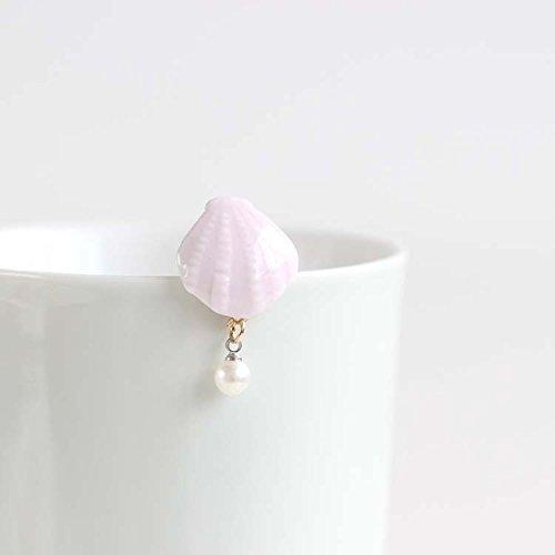 ((Seaside Love) literary small fresh creative ceramic handmade brooch small jewelry fashion jewelry 334)