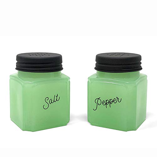 J.C. and Rollie Mint Glass Salt and Pepper Shakers ()
