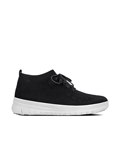 Top Baskets 001 Hautes High Noir Fitflop Femme Uberknit black Sneaker Slip on wpTwHIgq