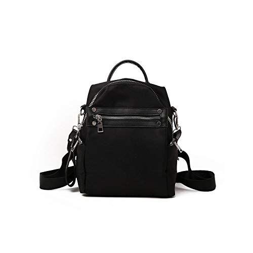 Women Backpack for School Style Leather Bag for College Simple Design Women Casual Daypacks Female,Black,21x27x12cm ()