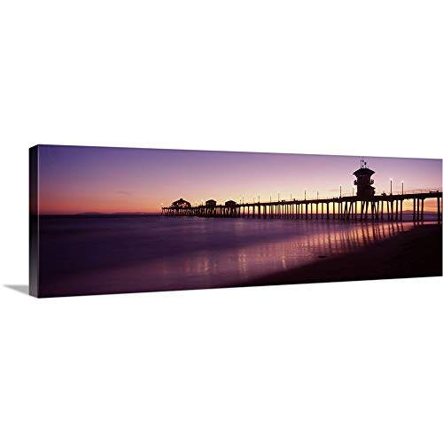 Pier in The sea Huntington Beach Pier Huntington Beach Orange County California Canvas Wall Art.