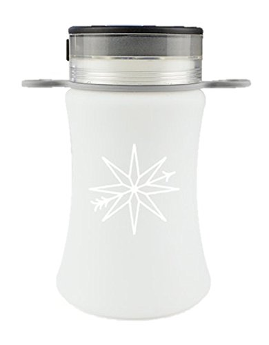 Compass Outdoors LED camping lantern, folding silicone bottle with Solar and USB charging- for camping, hiking, travel, backpacking, fishing, home, beach, emergency use (Folding Lantern)