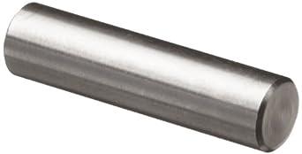 "316 Stainless Steel Dowel Pin, 1/4"" Diameter, 2"" Length (Pack of 25)"