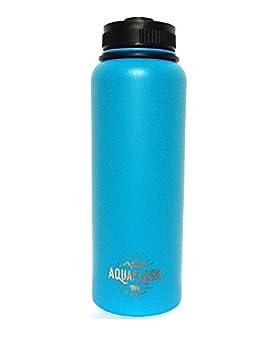 AQUAFLASK Mega Thermo de 1,2 Litros – Botella Termo de acero inoxidable con aislamiento de vacío de doble pared – Sin BPA – BPA Free – Botella de agua ...