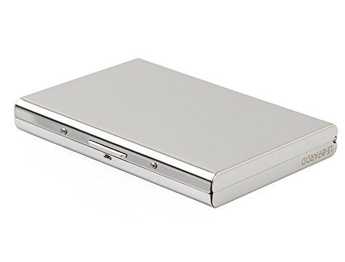 Leopardd RFID Blocking Stainless Steel Card Holder Case (002)