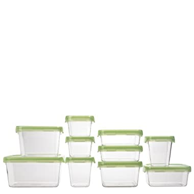 OXO Good Grips 20-Piece LockTop Container Set with Green Lids