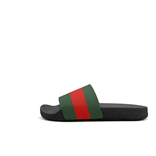 Woman Sandals Slippers Mules green and stripe Stunt icon red Scooter Slides Scooter 1 Summer Stunt Icon rP18wxvr