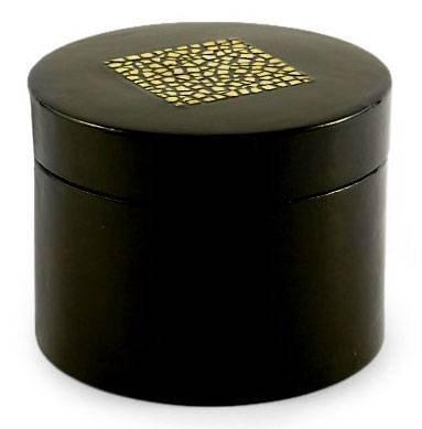 - NOVICA Decorative Mango Wood Eggshell Mosaic Box, Black and White Black, Dazzling Diamond'