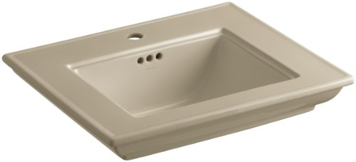 33 Memoirs Pedestal - KOHLER K-2345-1-33 Memoirs Bathroom Sink Basin with Stately Design and Single-Hole Faucet Drilling, Mexican Sand