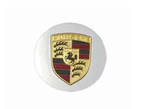 Porsche (77-91) Center Hub Cap (x1) for Alloy Wheel GENUINE silver + painted (Porsche Alloy Wheels)
