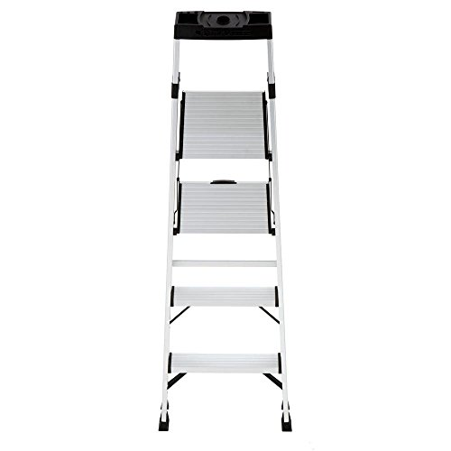 4-Step Hybrid Step Stool Ladder w/ Tool Storage Tray & 250 lb. Capacity by Gorilla Ladders