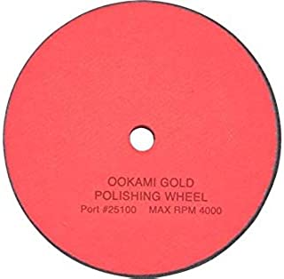 """product image for Wolff Ookami Gold Polishing Wheel with Free Polishing Compound Included - 5"""" Wheel fits Wolff Scissor Sharpening Machines (Ookami Gold Polishing Wheel with Compound)"""