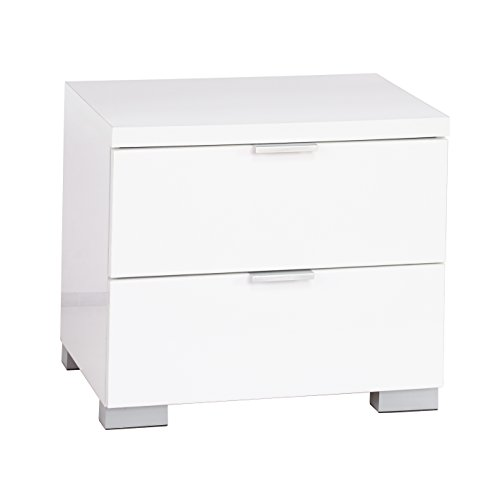 Target Marketing Systems Zuri Series Fusion Collection Contemporary 2 Drawer Night Stand, White