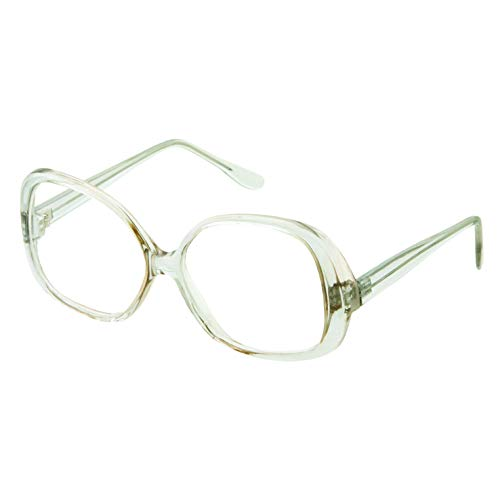 Woman's Stylish Square Non-prescription Nerd Eyeglasses Fake Glasses Clear Lens (Light Green ()