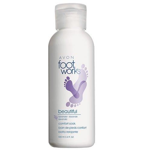 Avon Footworks Lavender Foot Soak Beautiful Comfort 3.4 Oz Tired Dry Feet by Avon Footworks