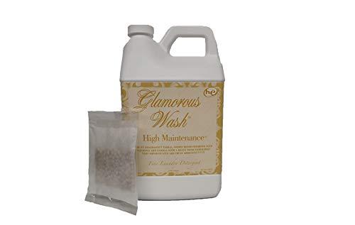 Tyler Candle Glamorous Wash High Maintenance Half Gallon (64 OZ) Laundry Detergent with Bonus Glamorous Sachet Single Pouch