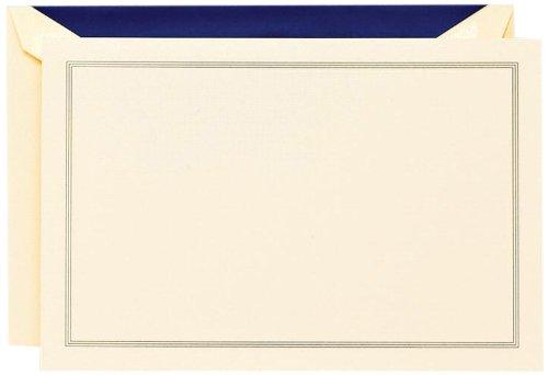 Crane & Co. Regent Blue Triple Hairline Correspondence Card (CC3315)