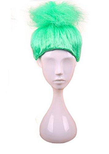 Longlove Cosplay Wig Halloween Fluffy Wigs Children Troll Flame Magic Fantasy Party Wig (Green Troll Wig)