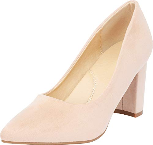 Block Imsu Pump Light Taupe Chunky Pointed Cambridge Heel Women's Toe Select vBgvq0RX