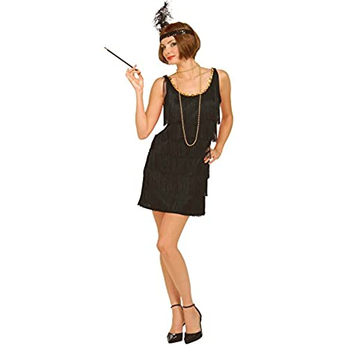 Forum Novelties Roaring 20s Flapper Dress and Headband, Black, X-Large Costume
