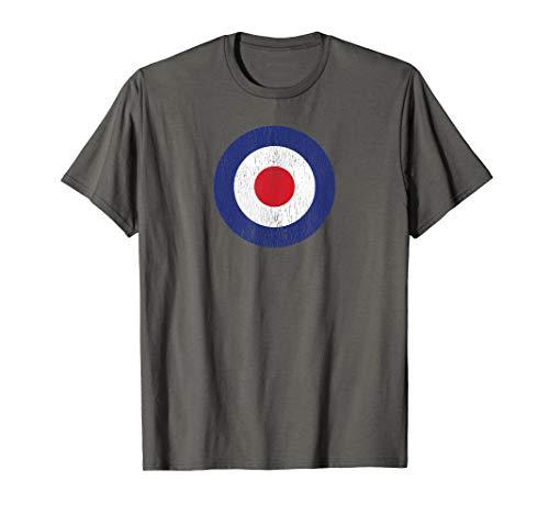 RAF Roundel British Target Logo Bullseye PopArt & M.O.D Tee