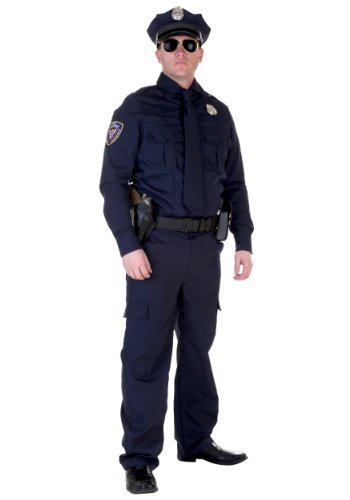 Authentic Cop Costume Standard Blue]()