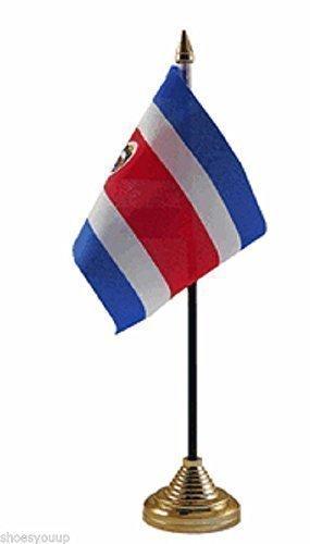 Costa Rica poliester bandera de mesa de 15,24 cm X cm 10,16 + Base ...