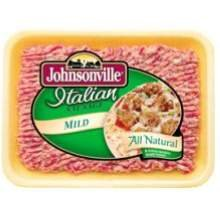 Johnsonville All Natural Ground Mild Italian Sausage, 16 Ounce -- 6 per case.