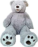 Valentine's 25 Inch Plush Teddy Bear - Grey